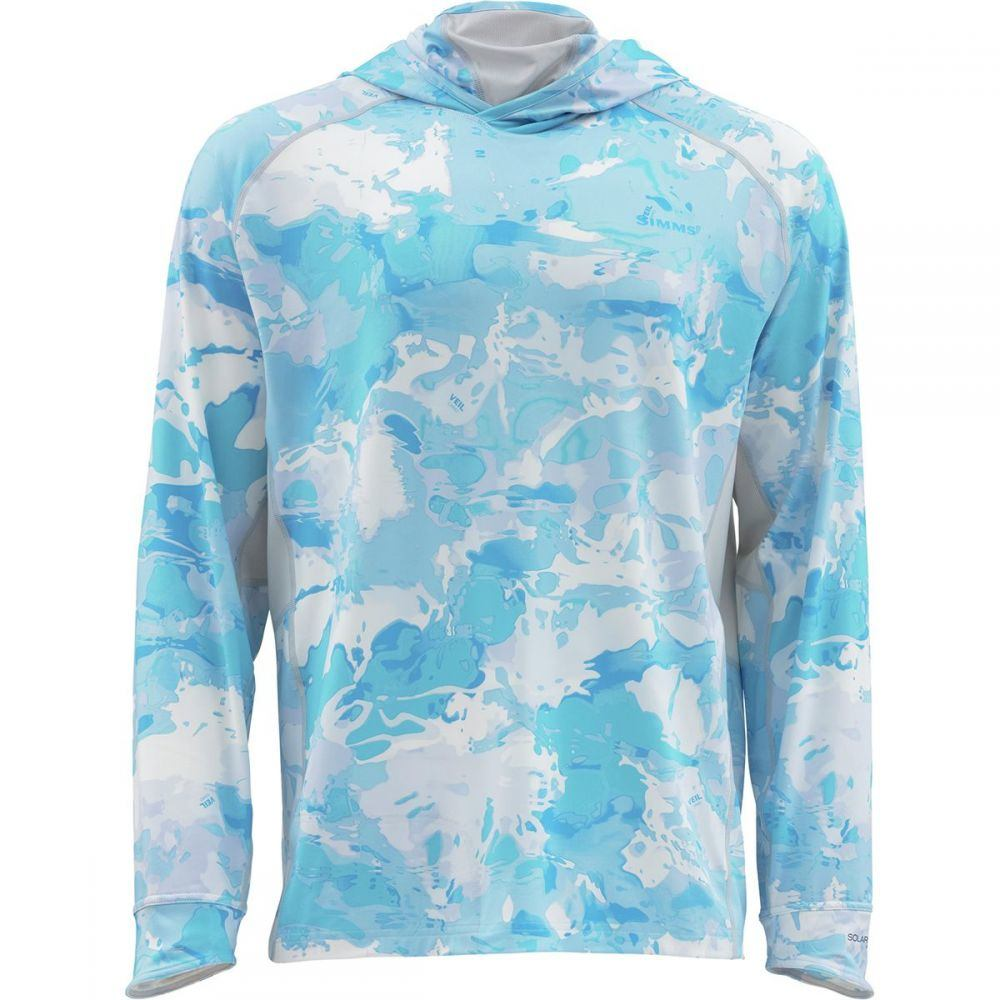 シムズ Simms メンズ 釣り・フィッシング トップス【SolarFlex Armor Shirts】Cloud Camo Blue