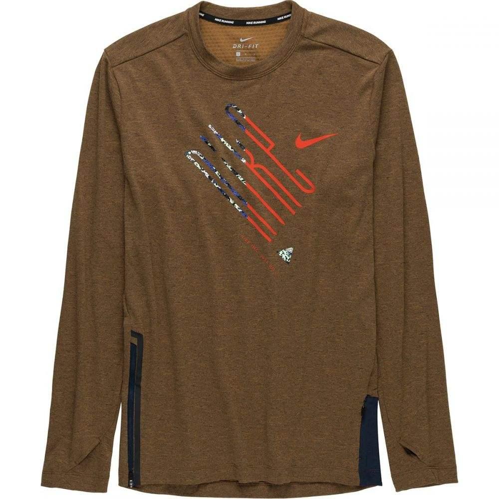 ナイキ Nike メンズ ランニング・ウォーキング トップス【Sphere Element Crew Wild Long - Sleeve Running Shirts】Ale Brown/Heather/Reflective Silver