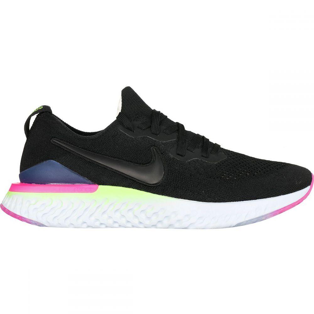 ナイキ Nike メンズ ランニング・ウォーキング シューズ・靴【Epic React Flyknit 2 Running Shoes】Black/Black-sapphire-lime Blast