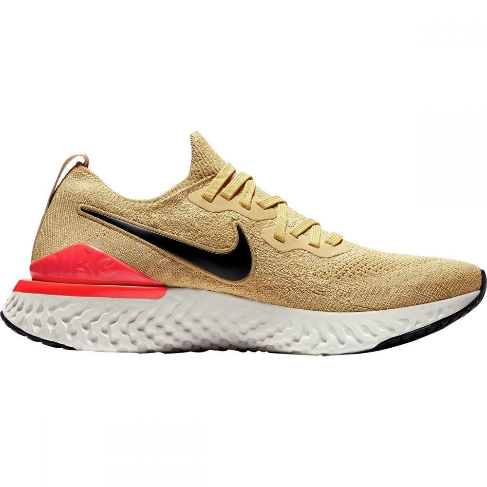 ナイキ Nike メンズ ランニング・ウォーキング シューズ・靴【Epic React Flyknit 2 Running Shoes】Club Gold/Black-red Orbit
