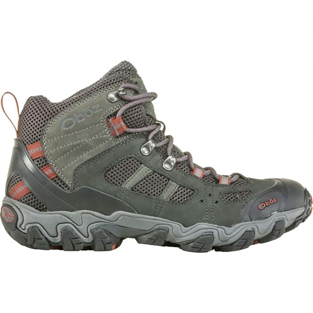 オボズ Oboz メンズ ハイキング・登山 シューズ・靴【Bridger Vent Mid Hiking Boots】Dark Shadow/Brandy Brown