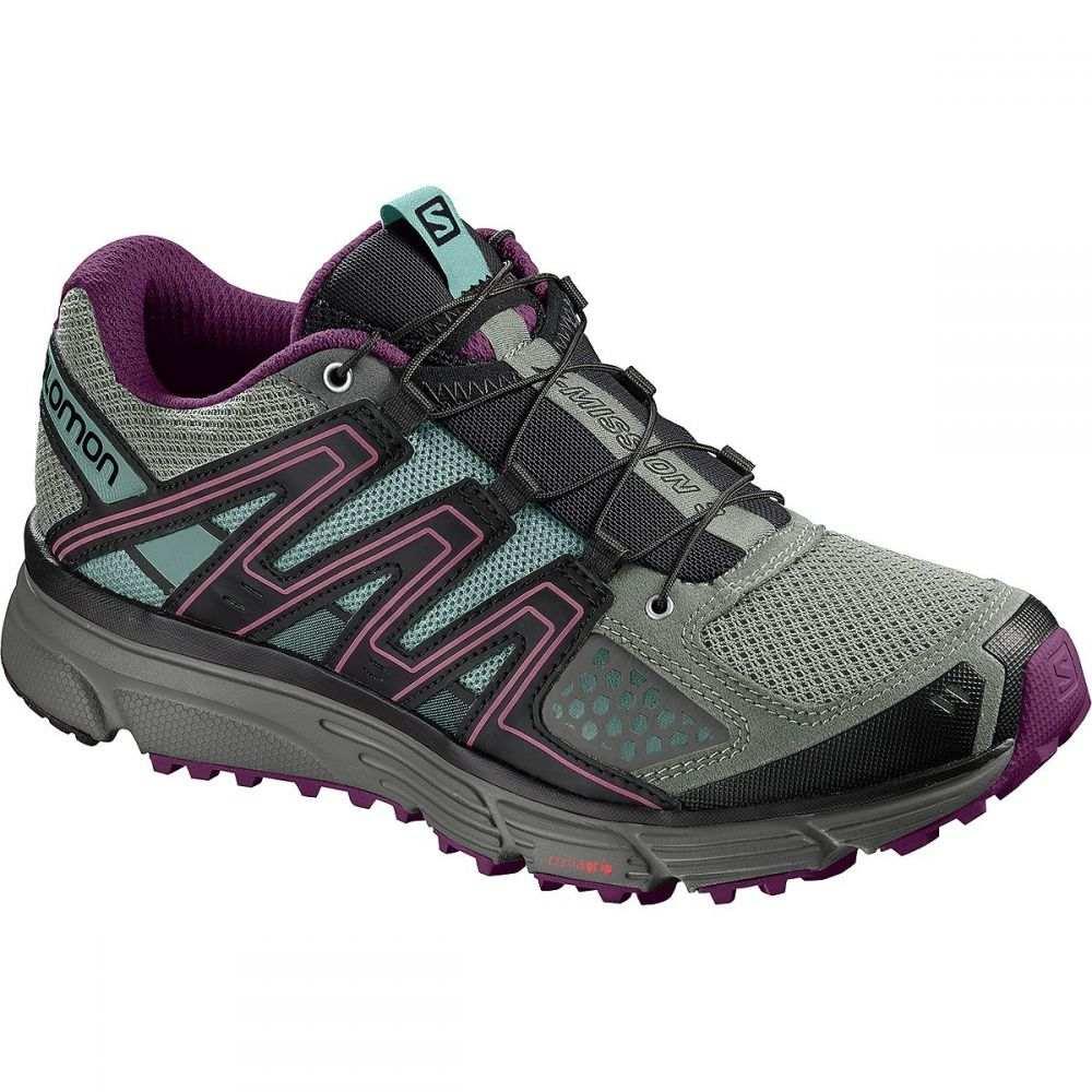 サロモン Salomon レディース ランニング・ウォーキング シューズ・靴【X - Mission 3 Trail Running Shoe】Shadow/Dark Purple/Nile Blazer