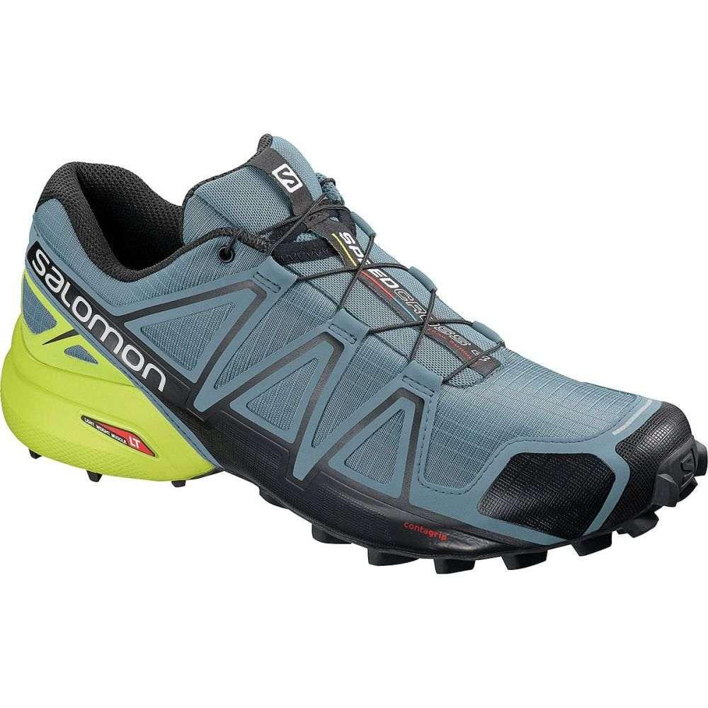 サロモン Salomon メンズ ランニング・ウォーキング シューズ・靴【Speedcross 4 Trail Running Shoes】Bluestone/Black/Sulphur Spring