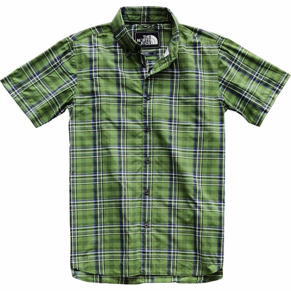 ザ ノースフェイス The North Face メンズ トップス 半袖シャツ【Monanock Short - Sleeve Shirts】Garden Green Brutus Plaid
