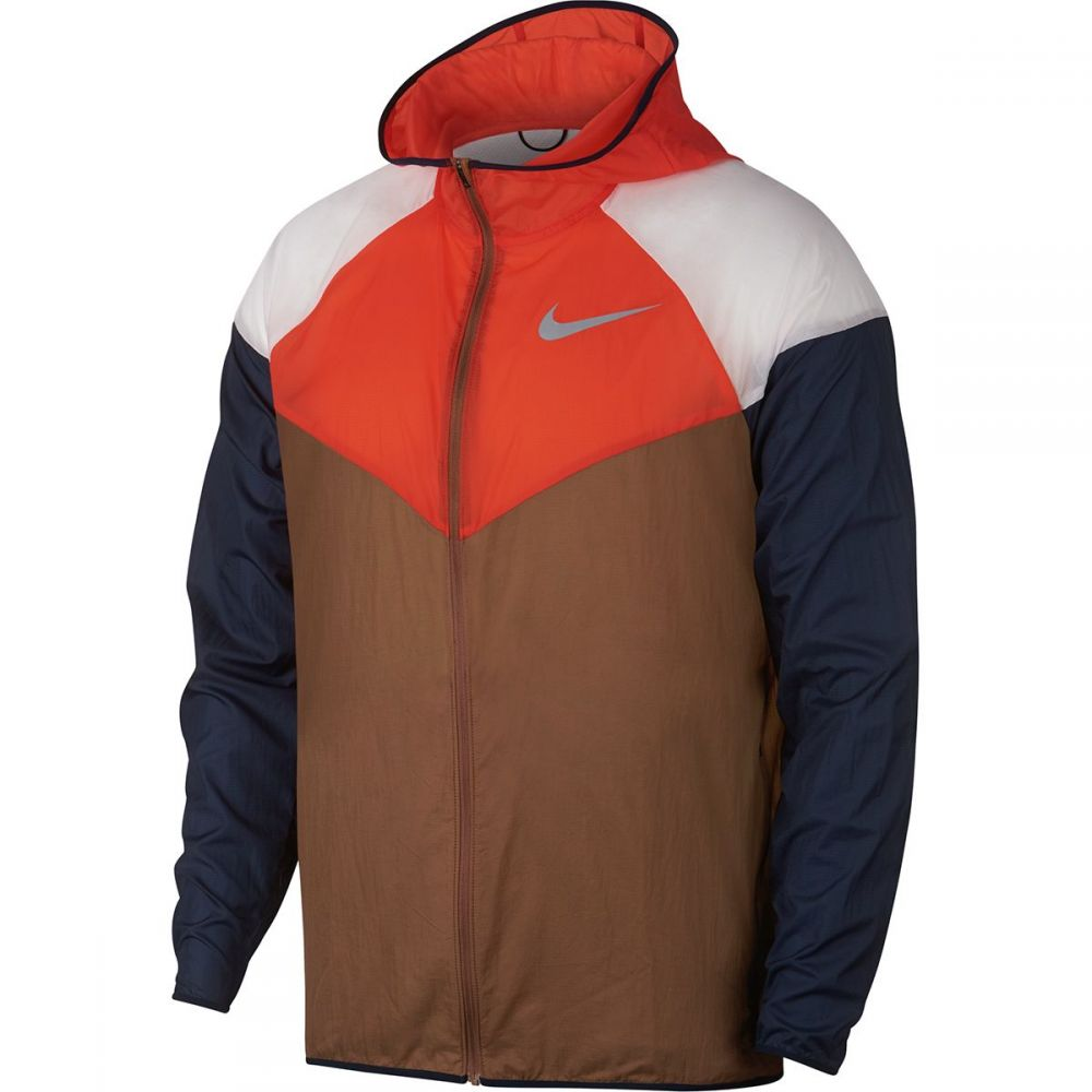 ナイキ Nike メンズ ランニング・ウォーキング アウター【Windrunner Running Jackets】Ale Brown/Team Orange/Reflective Silver