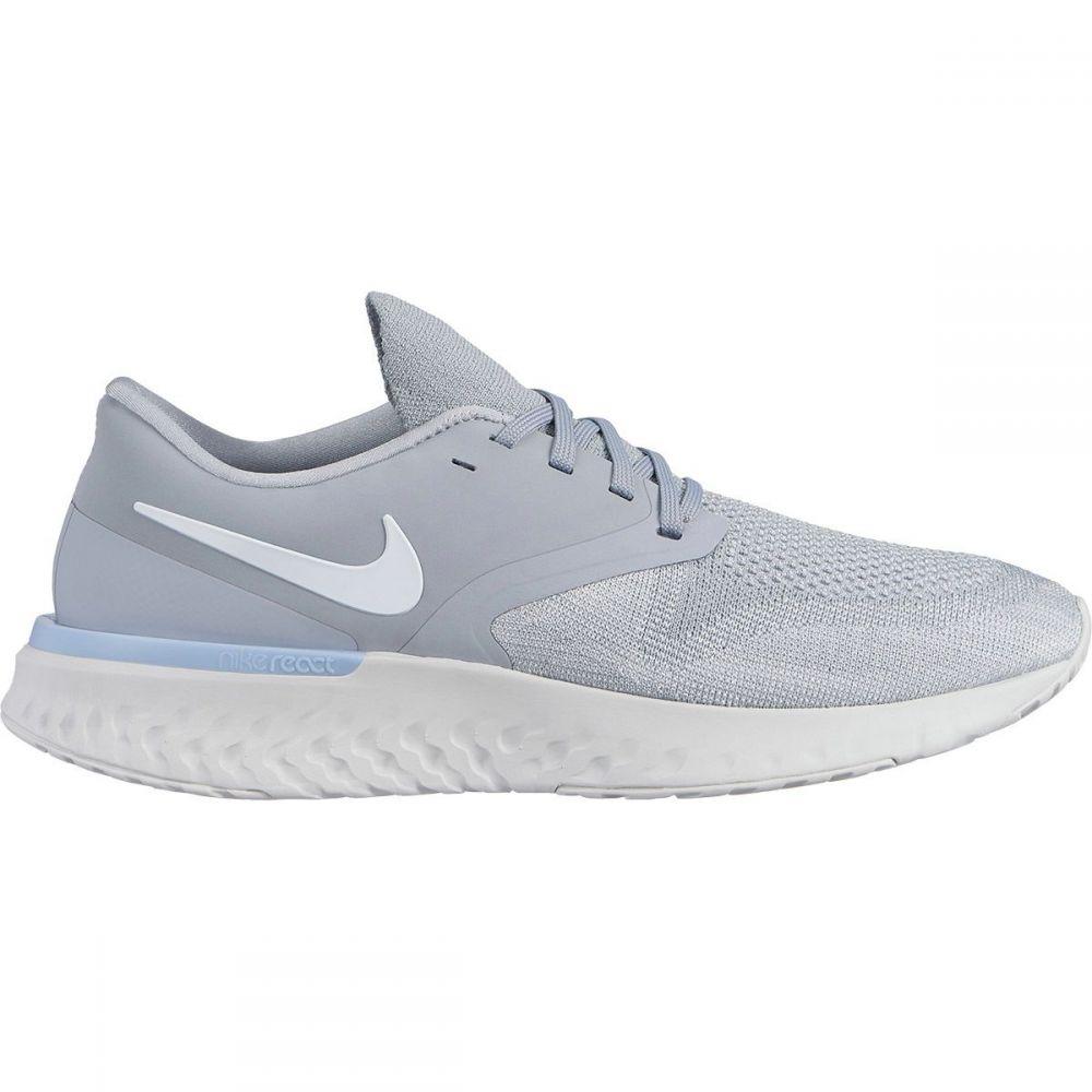 ナイキ Nike メンズ ランニング・ウォーキング シューズ・靴【Odyssey React 2 Flyknit Running Shoes】Wolf Grey/White-platinum Tint-gunsmoke
