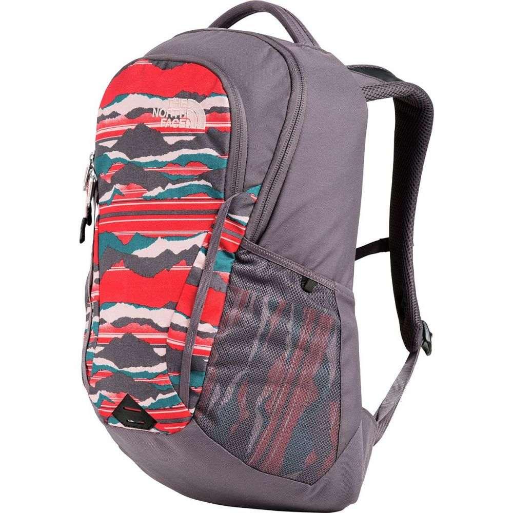 ザ ノースフェイス The North Face レディース バッグ バックパック・リュック【Vault 26L Backpack】Juicy Red Landscape Stripe Print/Rabbit Grey