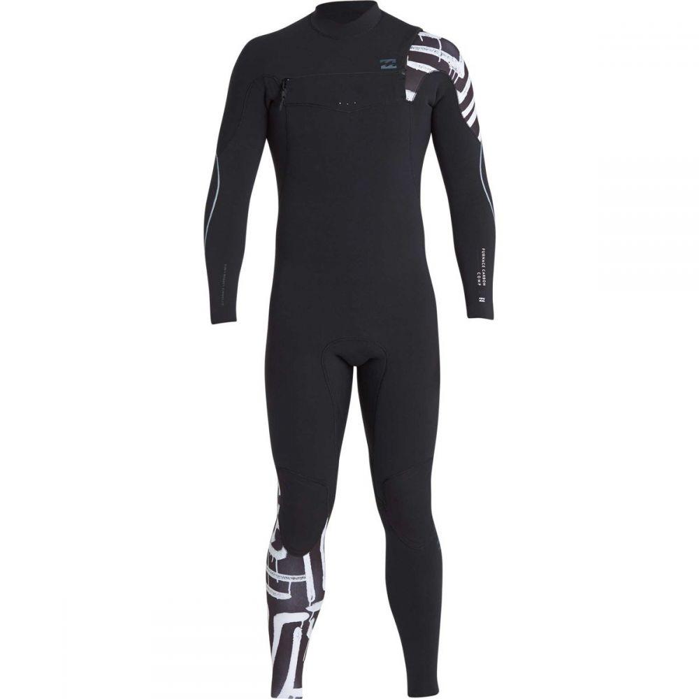 ビラボン Billabong メンズ 水着・ビーチウェア ウェットスーツ【4/3 Furnace Carbon Comp Chest Zip Full Wetsuits】Black Print