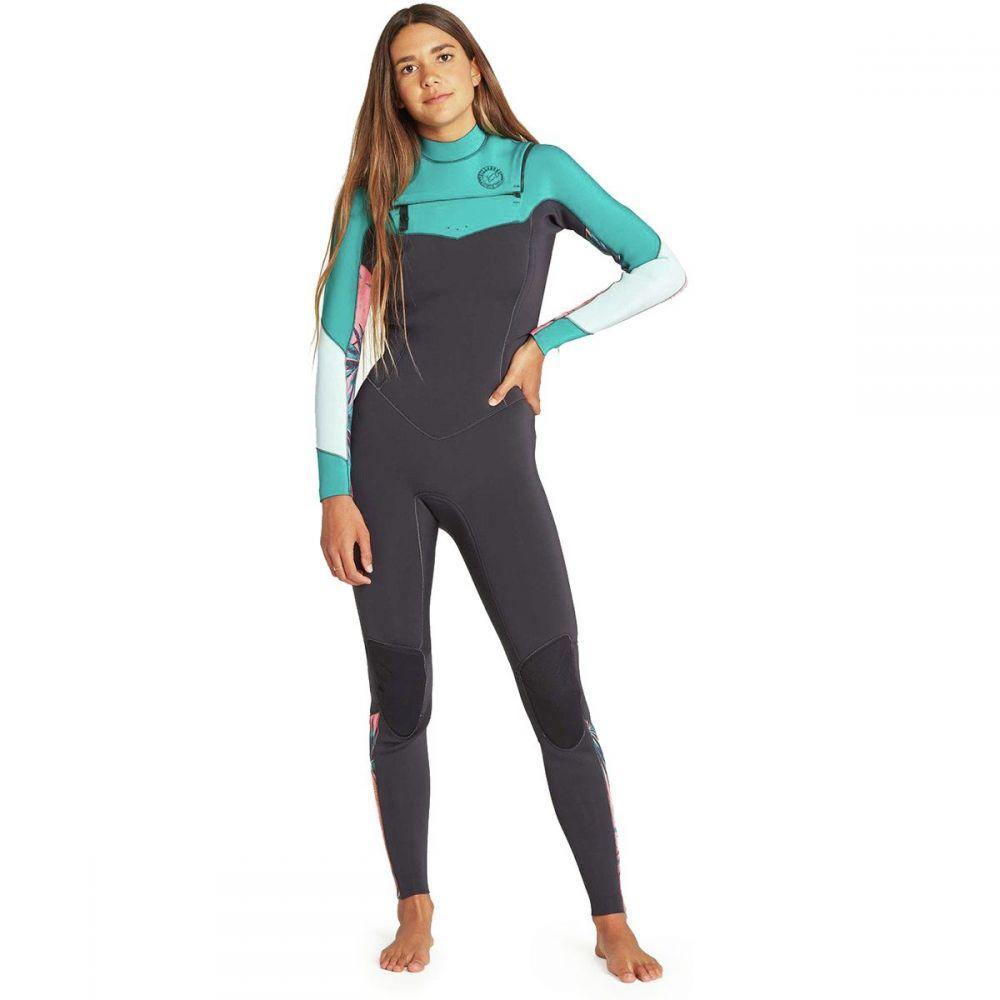 ビラボン Billabong レディース 水着・ビーチウェア ウェットスーツ【3/2 Salty Dayz Chest - Zip Full Wetsuit】Palm Green