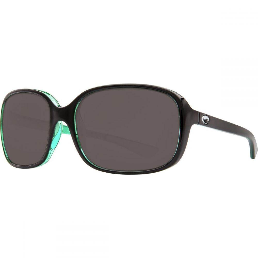 コスタ Costa レディース スポーツサングラス【Riverton 580P Polarized Sunglasses】Shiny Black Kiwi Gray 580p