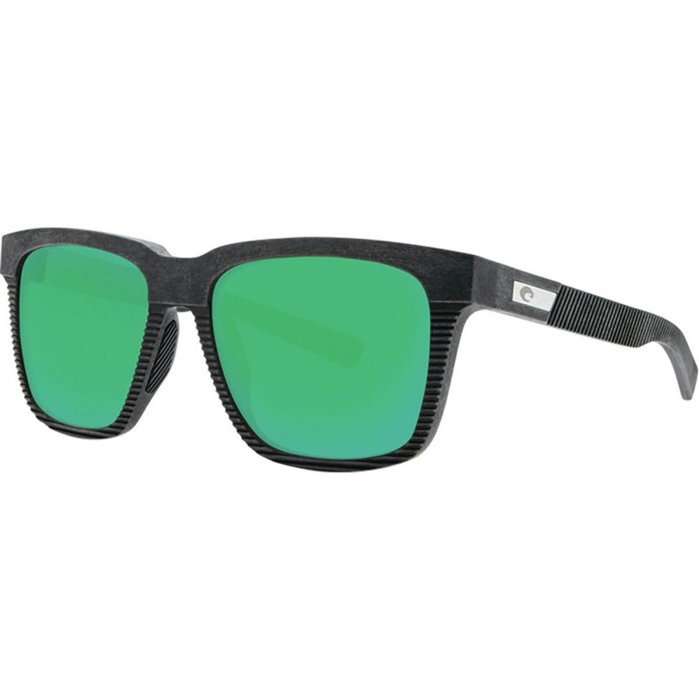 コスタ Costa レディース スポーツサングラス【Pescador 580G Polarized Sunglasses】Net Gray/Black Rubber/Green Mirror