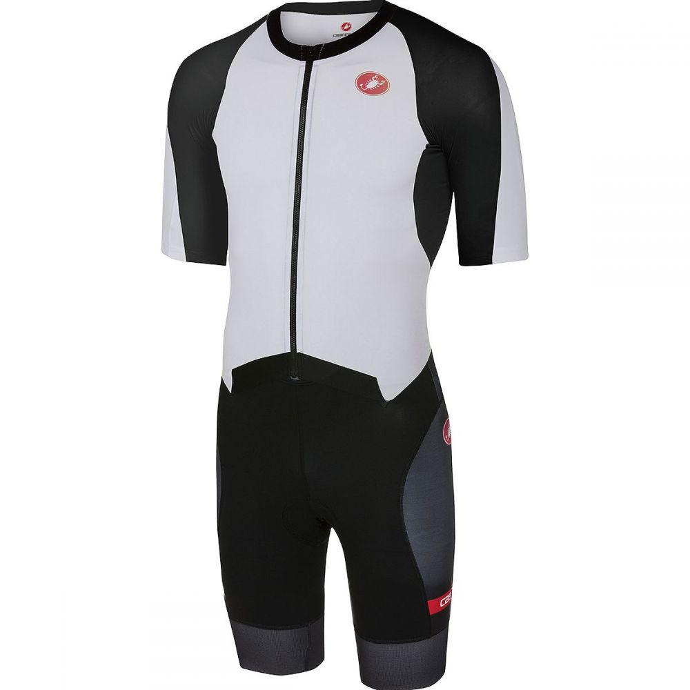 カステリ Castelli メンズ トライアスロン トップス【All Out Speed Suits】White/Black