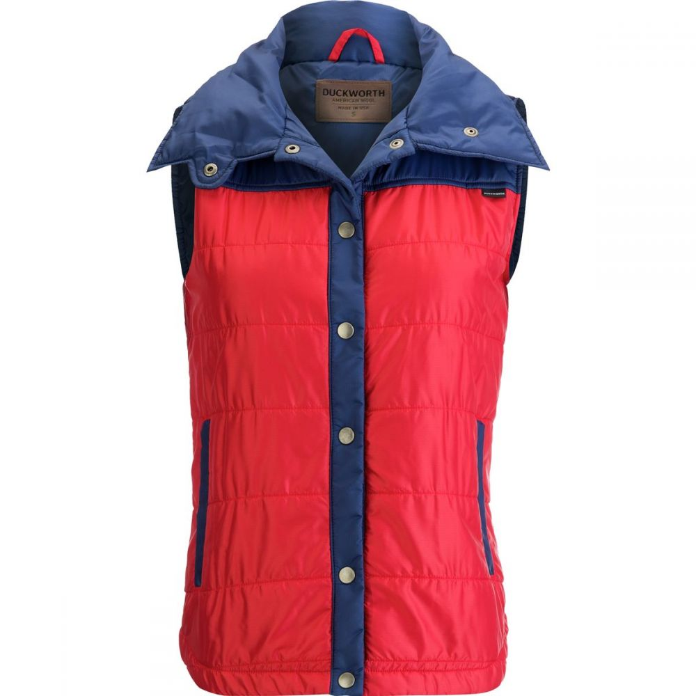 ダックワース Duckworth レディース トップス ベスト・ジレ【Woolcloud Vest】Blue/Red