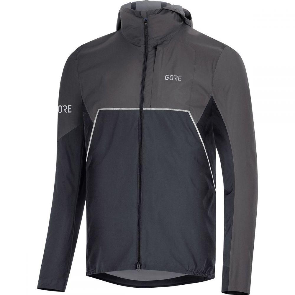 ゴアウェア Gore Wear メンズ アウター ジャケット【R7 Partial Gore - Tex Infinium Hooded Jackets】Black/Terra Grey