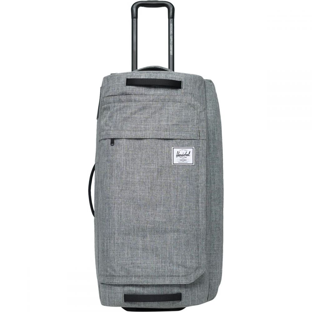 ハーシェル サプライ Herschel Supply レディース バッグ ボストンバッグ・ダッフルバッグ【Wheelie Outfitter 90L Duffel Bag】Raven Crosshatch
