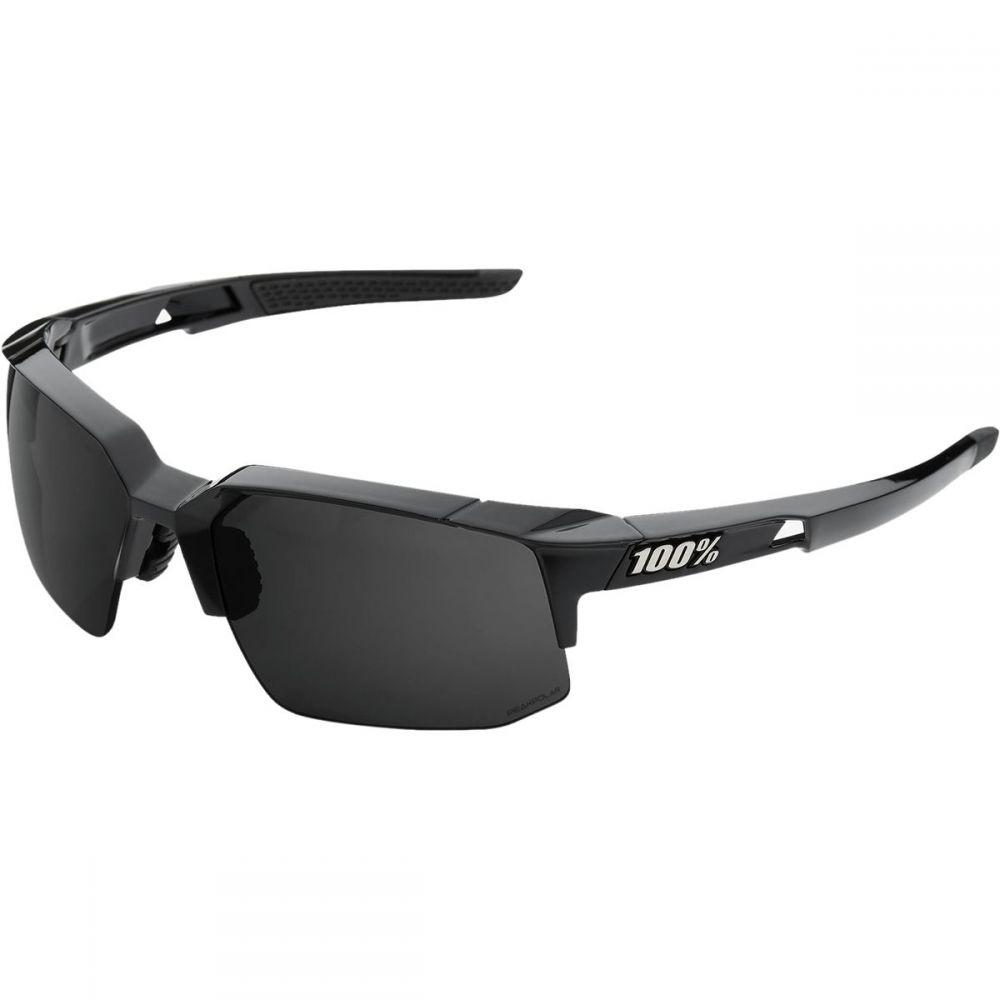 ヒャクパーセント 1 レディース スポーツサングラス【Speedcoupe Sunglasses】Polished Black-Grey Peakpolar Lens