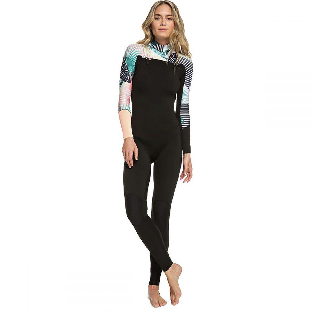 ロキシー Roxy レディース 水着・ビーチウェア ウェットスーツ【3/2 Popsurf Full Zip GBS Wetsuit】Black