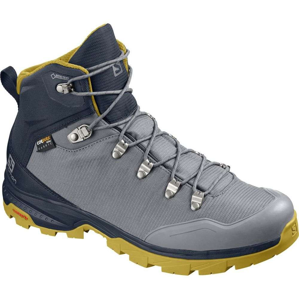 サロモン Salomon メンズ ハイキング・登山 シューズ・靴【Outback 500 GTX Backpacking Boots】Quiet Shade/Navy Blazer/Green Sulphur