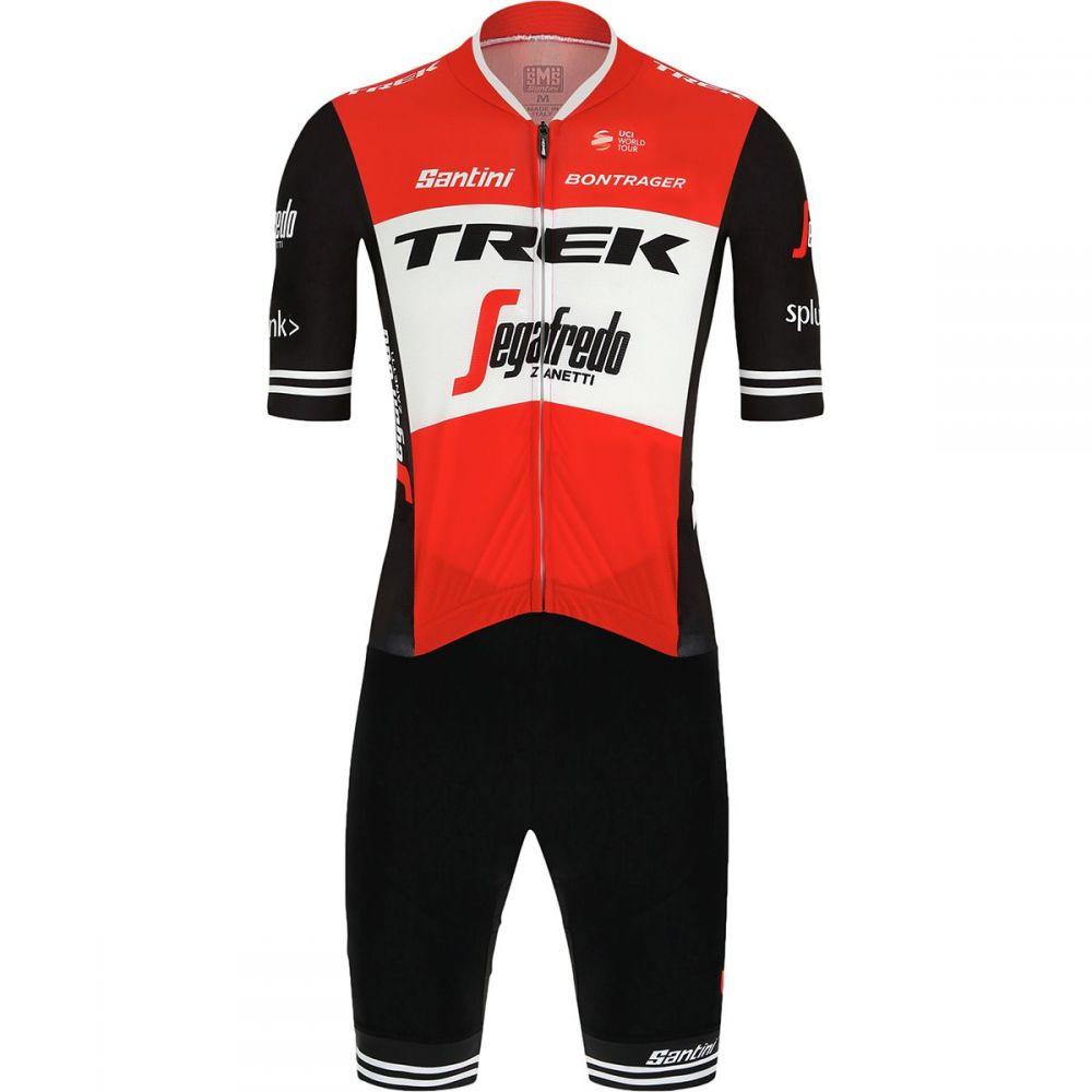 サンティーニ Santini メンズ トライアスロン トップス【Trek Pro Team Genio Road Suit - 2019s】Black