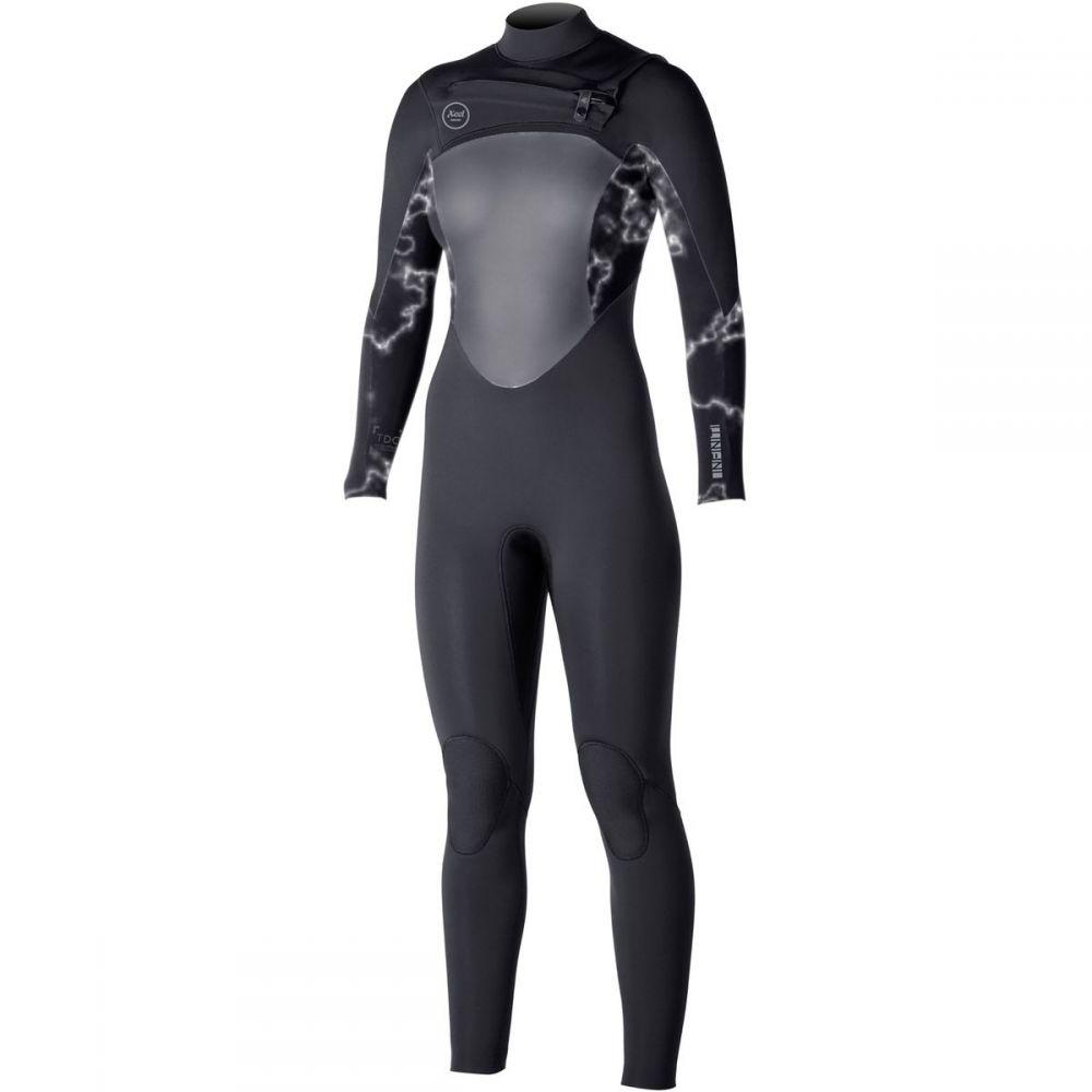 エクセル XCEL レディース 水着・ビーチウェア ウェットスーツ【3/2 Infiniti TDC Chest - Zip Full Wetsuit】Black/Gray Print