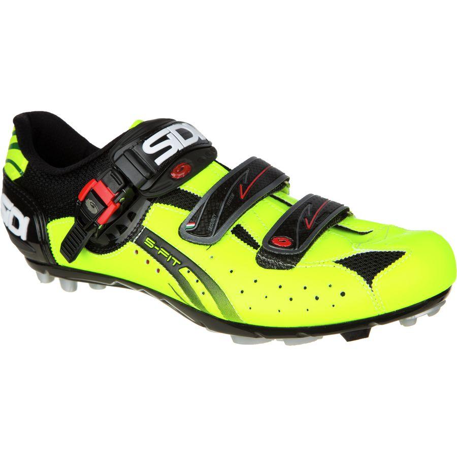 シディー Sidi メンズ サイクリング シューズ・靴【Dominator Fit Shoes】Black/Yellow Fluo