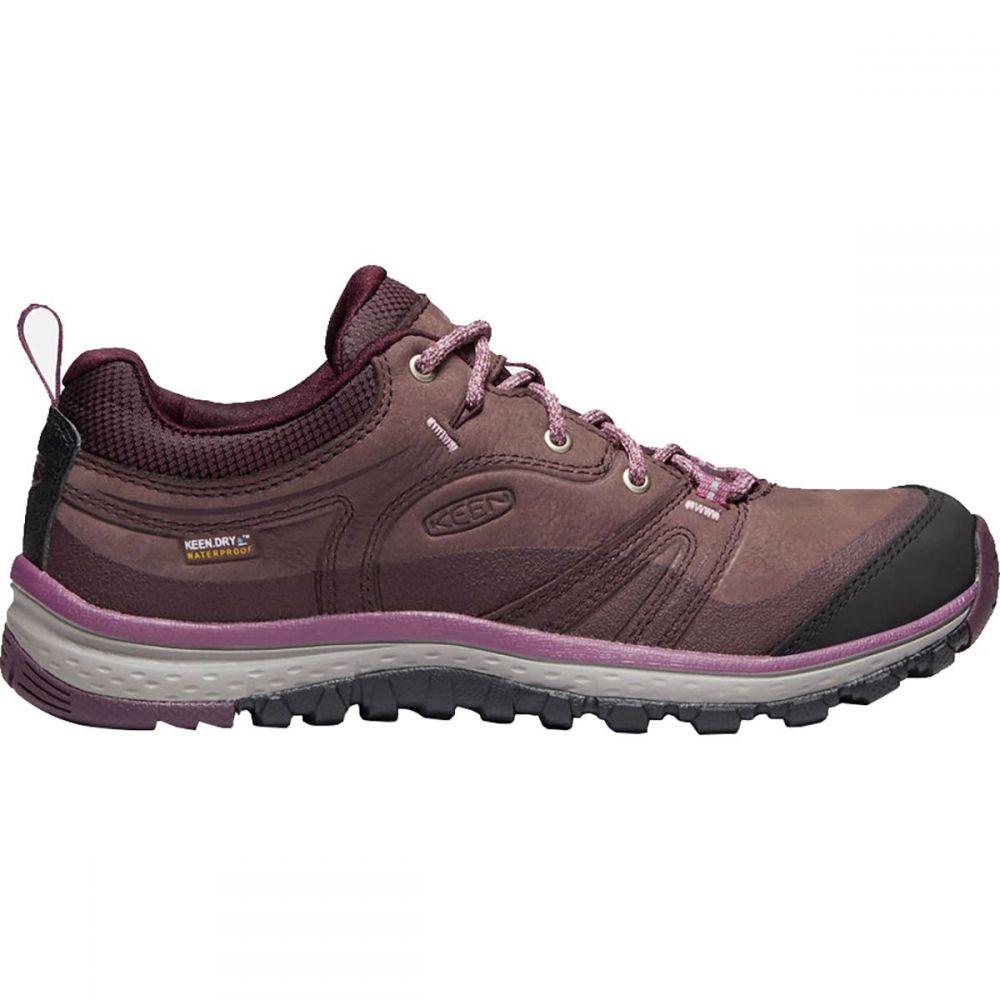キーン KEEN レディース ハイキング・登山 シューズ・靴【Terradora Leather Waterproof Hiking Shoe】Peppercorn/Wine Tasting