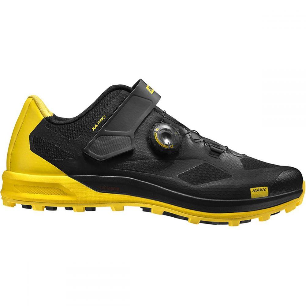 マヴィック Mavic メンズ 自転車 シューズ・靴【XA Pro Cycling Shoes】Black/Black/Yellow Mavic
