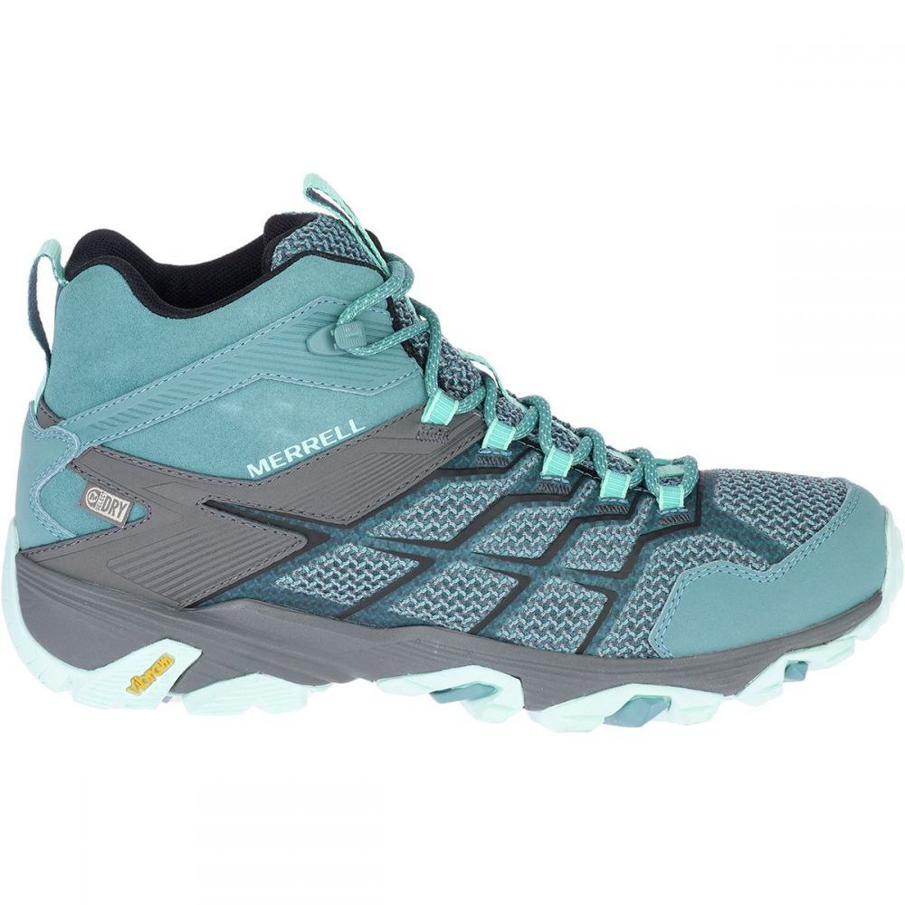メレル Merrell レディース ハイキング・登山 シューズ・靴【Moab FST 2 Mid Waterproof Hiking Boot】Blue Smoke