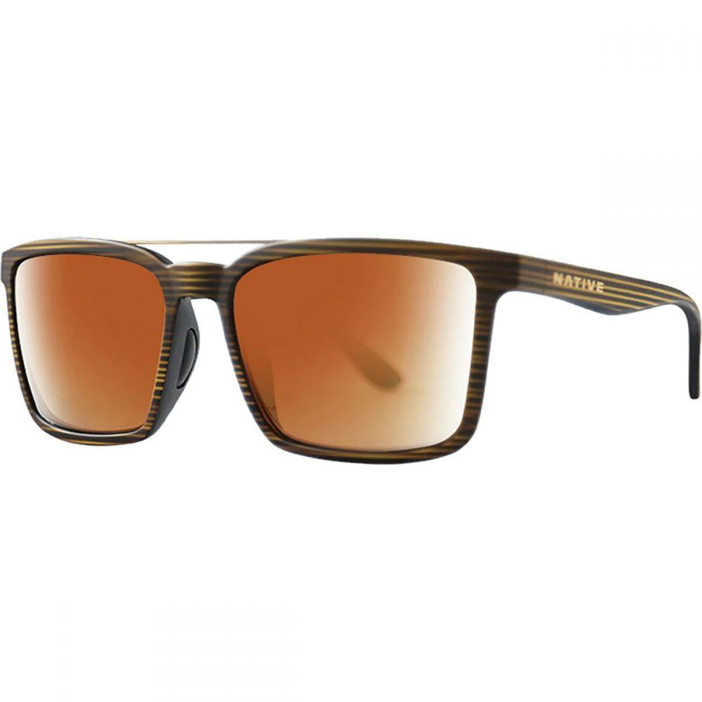 ネイティブアイウェア Native Eyewear レディース メガネ・サングラス【Four Corners Polarized Sunglasses】Wood/Bronze Reflex