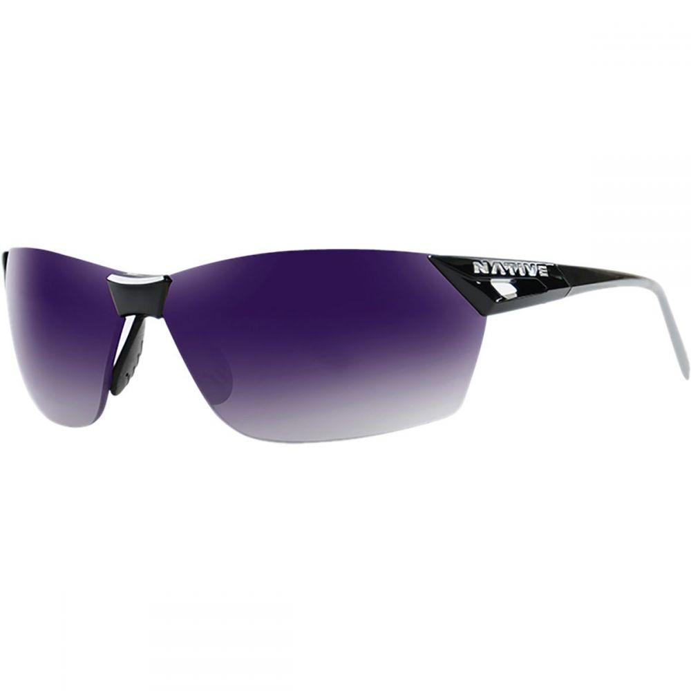 ネイティブアイウェア Native Eyewear レディース スポーツサングラス【Vigor AF Polarized Sunglasses】Gloss Black/Violet Reflex