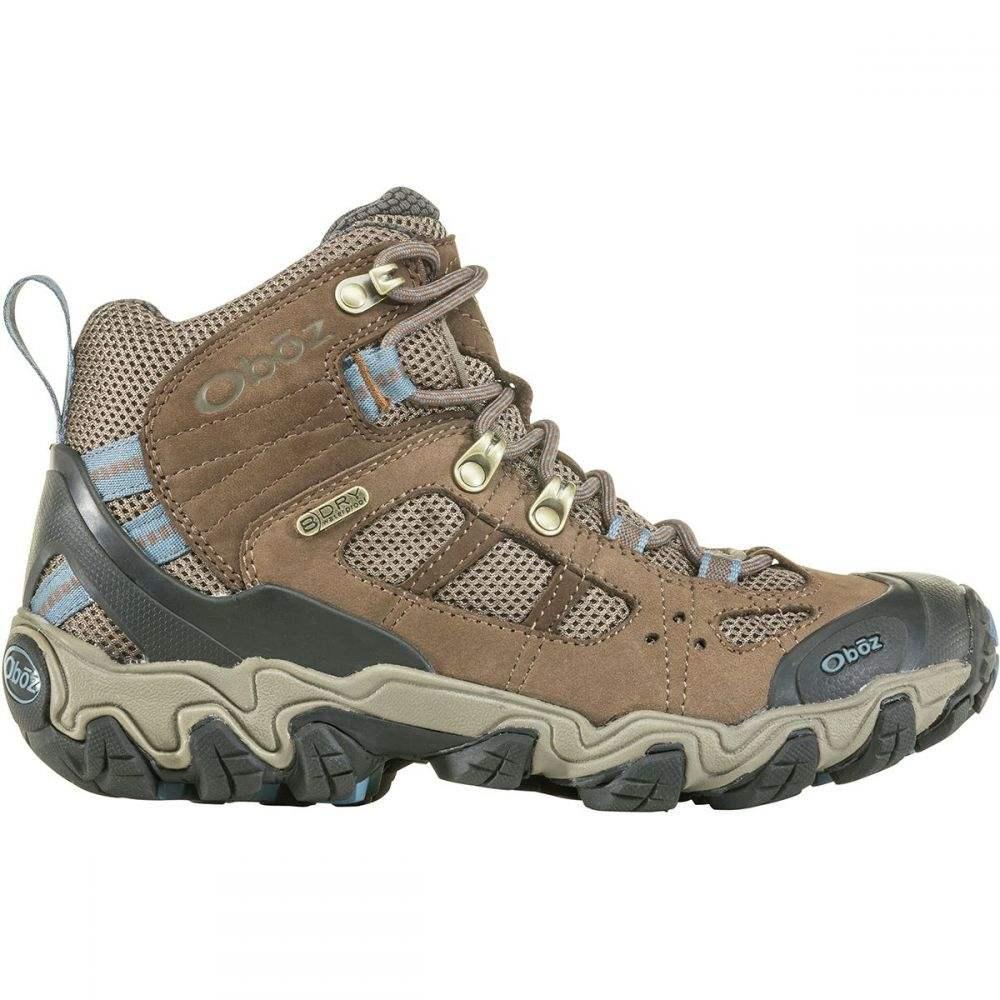 オボズ Oboz レディース ハイキング・登山 シューズ・靴【Bridger Vent Mid B - Dry Hiking Boot】Brindle/Tradewinds Blue