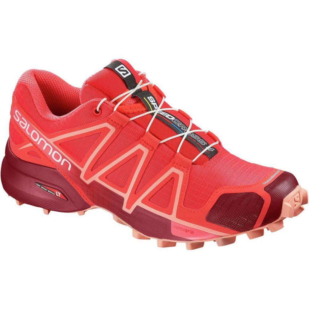 サロモン Salomon レディース ランニング・ウォーキング シューズ・靴【Speedcross 4 Trail Running Shoe】Hibiscus/Red Dalhia/Peach Amber