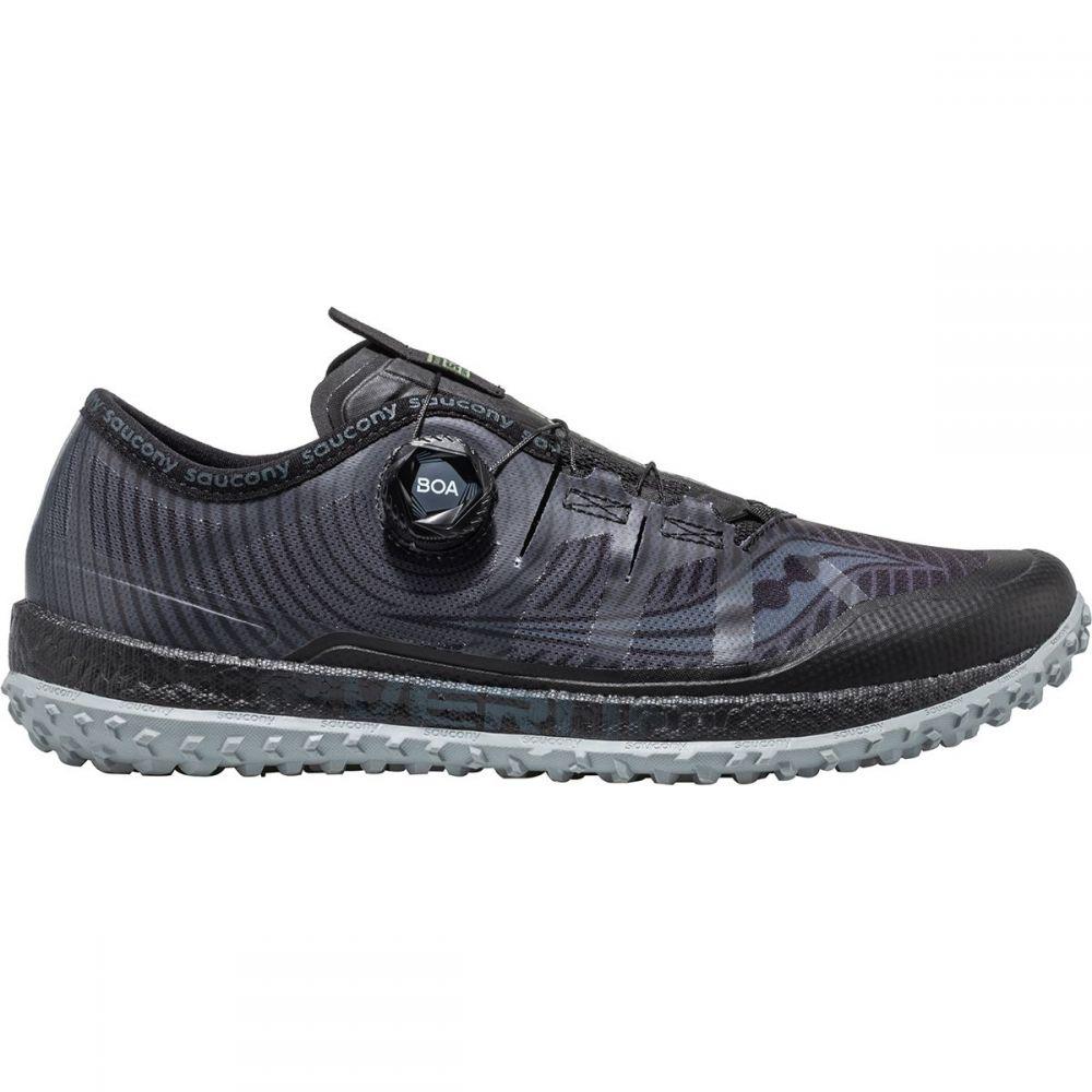サッカニー Saucony メンズ ランニング・ウォーキング シューズ・靴【Switchback Iso Trail Running Shoes】Black/Grey