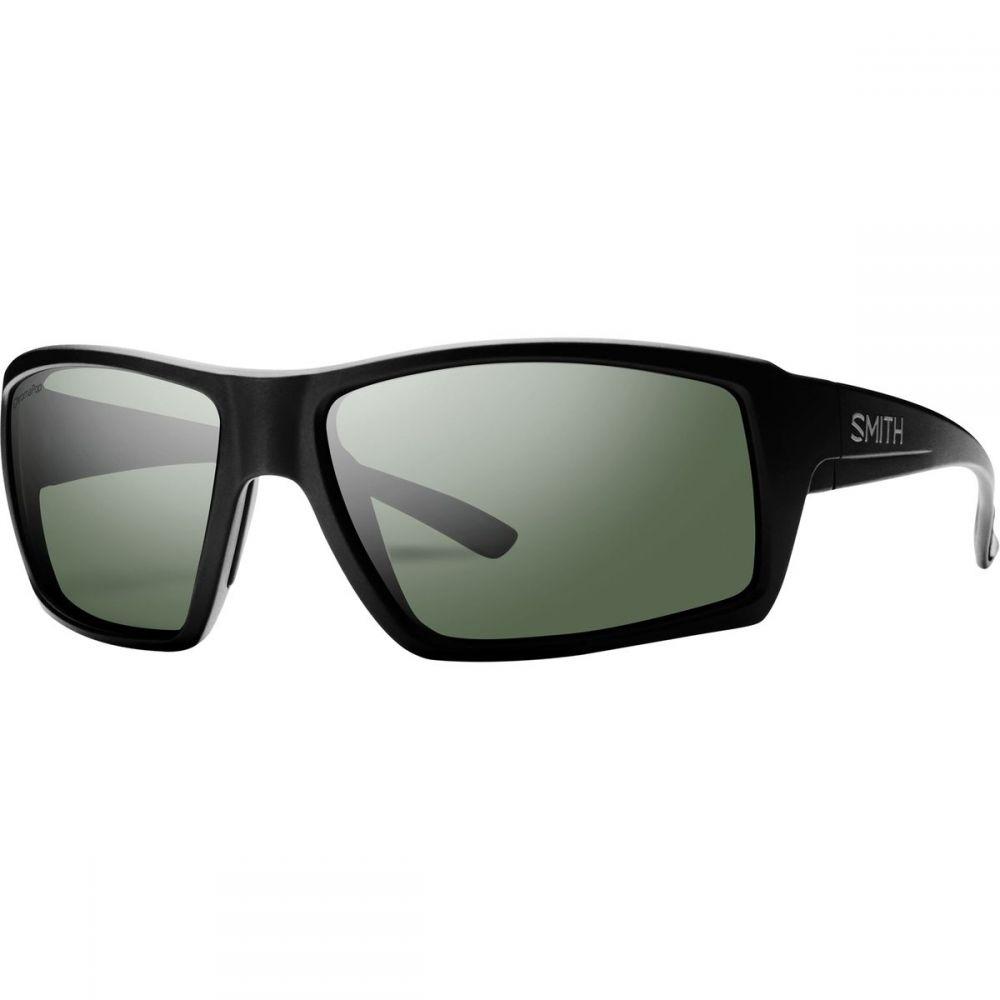 スミス Smith メンズ スポーツサングラス【Challis ChromaPop Polarized Sunglassess】Matte Black/Polarized Gray Green