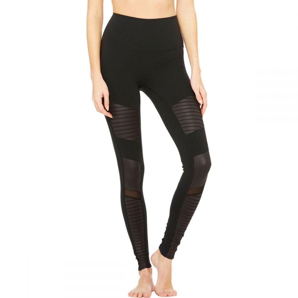 アローヨガ インナー・下着 Alo Yoga Glossy レディース レディース インナー・下着 スパッツ・レギンス【High - Waist Moto Legging】Black/Black Glossy, 歌登町:d26df6df --- stilus-szenvedelye.hu