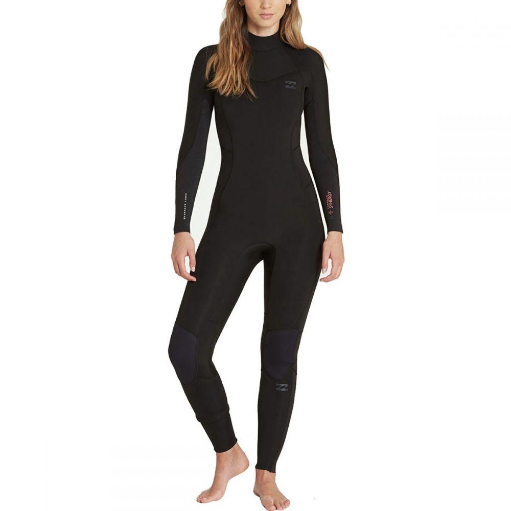 ビラボン Billabong レディース 水着・ビーチウェア ウェットスーツ【4/3 Furnace Synergy Chest - Zip Full Wetsuit】Black