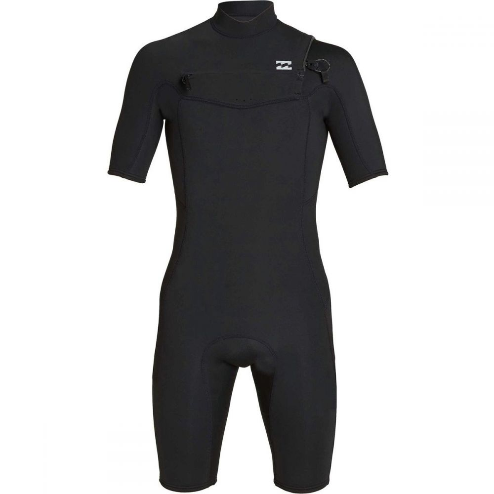 ビラボン Billabong メンズ 水着・ビーチウェア ウェットスーツ【2mm Absolute GBS Chest Zip Short-Sleeve Spring Suits】Black/Silver