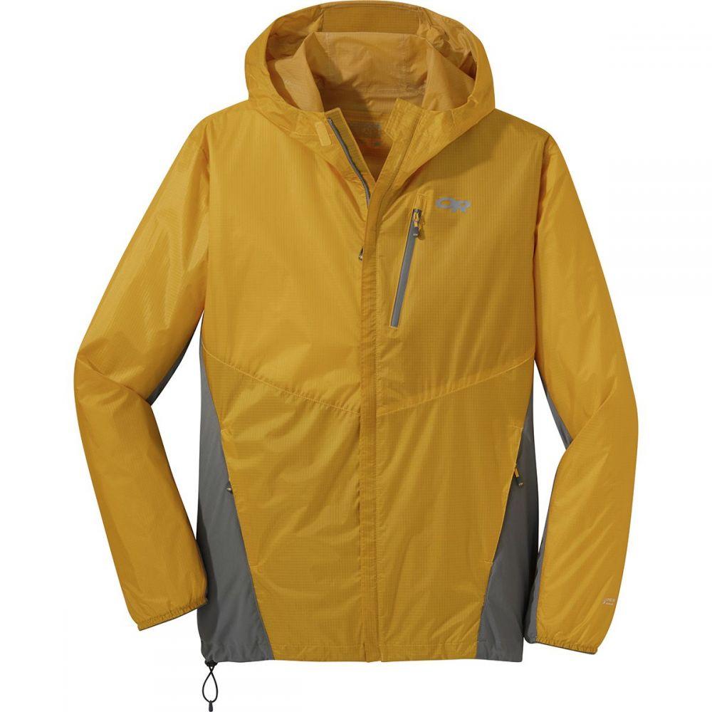 アウトドアリサーチ Outdoor Research メンズ アウター レインコート【Helium Hybrid Hooded Jackets】Solaria/Pewter