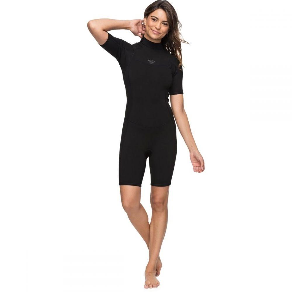 ロキシー Roxy レディース 水着・ビーチウェア ウェットスーツ【2/2 Syncro Ser Back - Zip SP FLT Westsuit】Black