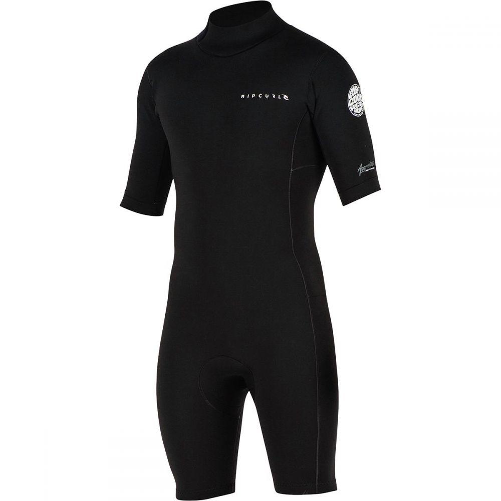 リップカール Rip Curl レディース 水着・ビーチウェア ウェットスーツ【Aggrolite 2/2 Back - Zip Short-Sleeve Spring Wetsuits】Black