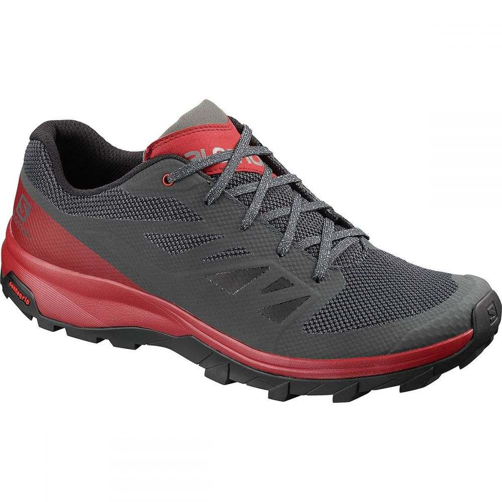 サロモン Salomon メンズ ハイキング・登山 シューズ・靴【Outline Hiking Shoes】Ebony/Red Dahlia/Frost Gray