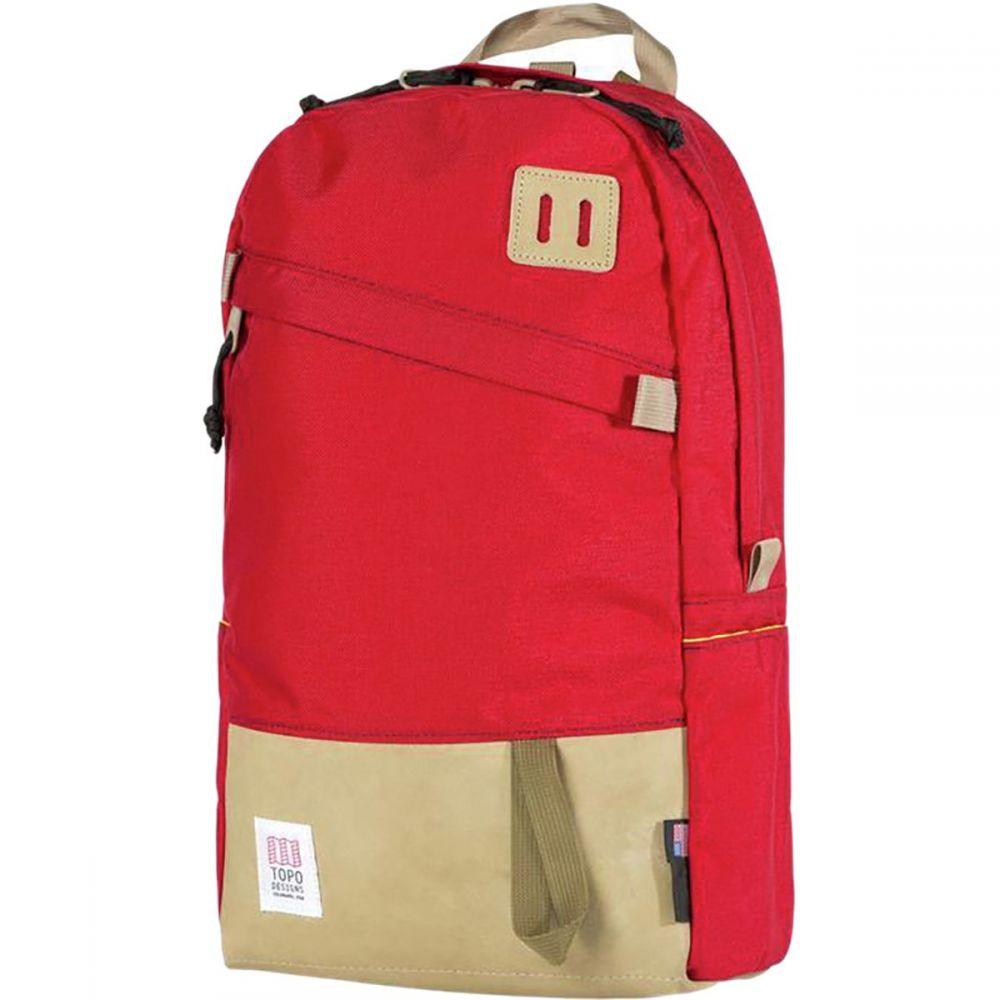 トポ デザイン Topo Designs メンズ バッグ バックパック・リュック【Daypack 22L Backpack】Red/Khaki Leather