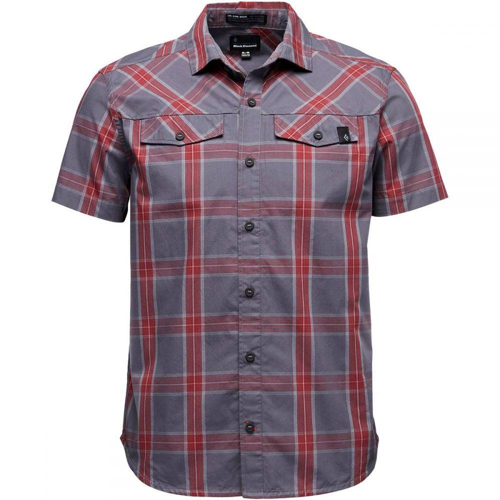 ブラックダイヤモンド Black Diamond メンズ トップス 半袖シャツ【Benchmark Short-Sleeve Shirts】Anthracite/Red Oxide/Alloy Plaid