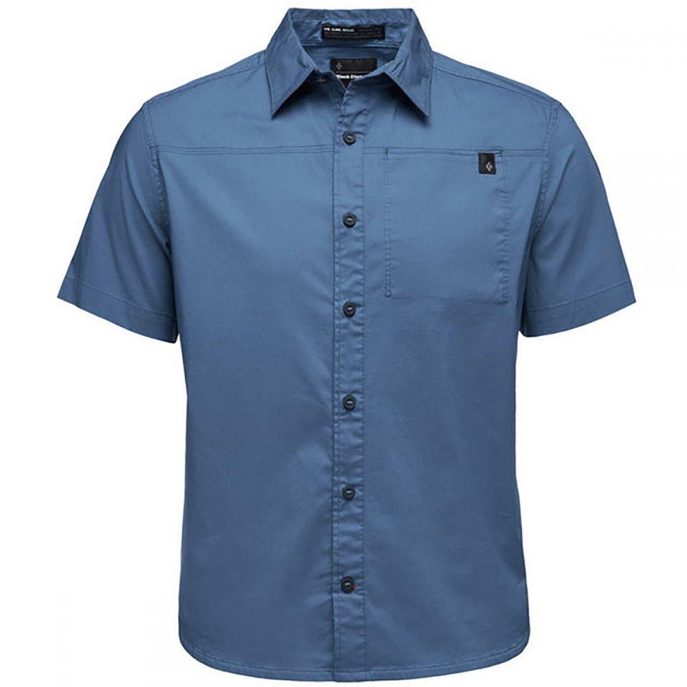 ブラックダイヤモンド Black Diamond メンズ トップス 半袖シャツ【Stretch Operator Shirts】Astral Blue