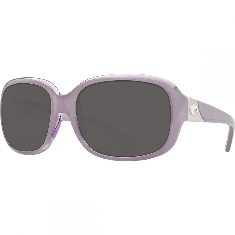 コスタ Costa レディース スポーツサングラス【Gannet 580P Polarized Sunglasses】Shiny Sea Lavender Crystal Gray 580p