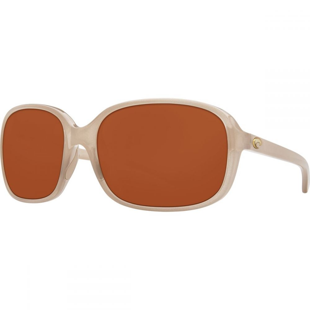 コスタ Costa レディース スポーツサングラス【Riverton 580P Polarized Sunglasses】Shiny Sand Crystal Copper 580p