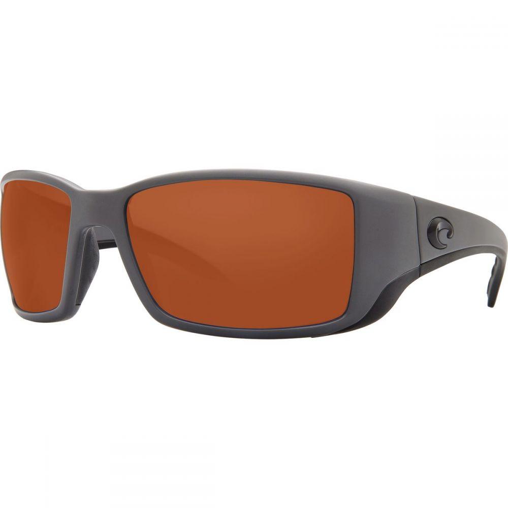 コスタ Costa レディース スポーツサングラス【Blackfin 580P Polarized Sunglasses】Matte Gray Copper 580p