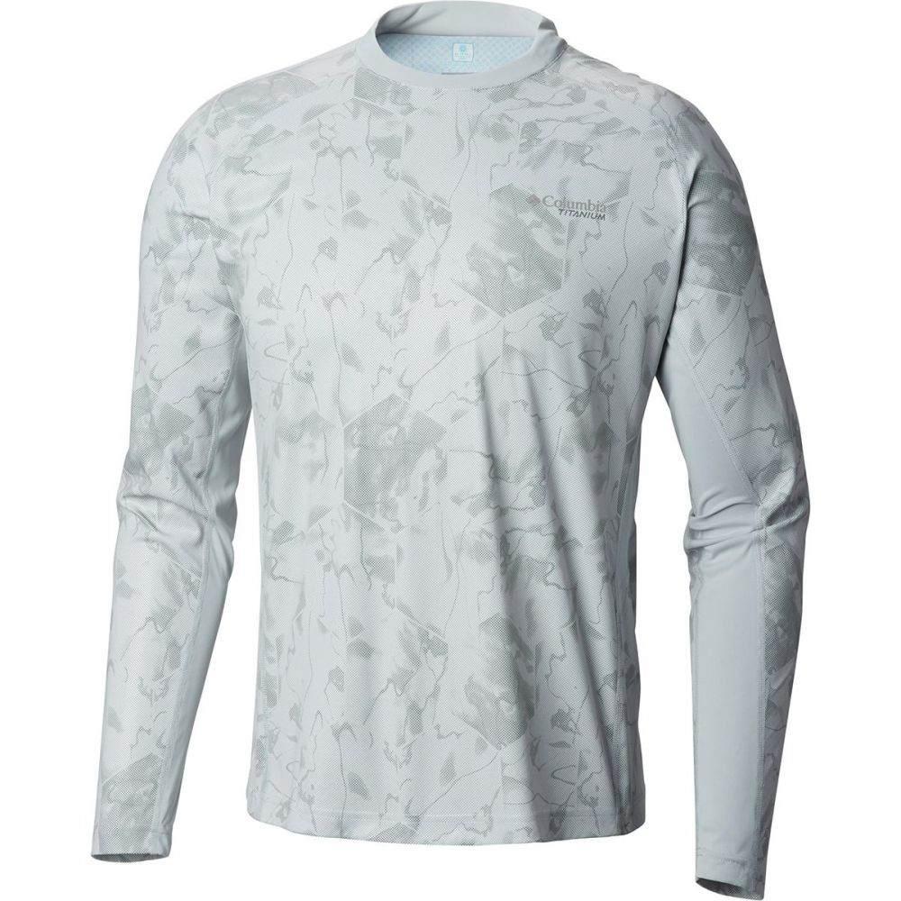 コロンビア Columbia メンズ トップス 長袖Tシャツ【Solar Ice Long-Sleeve Shirts】Cool Grey Water Geo