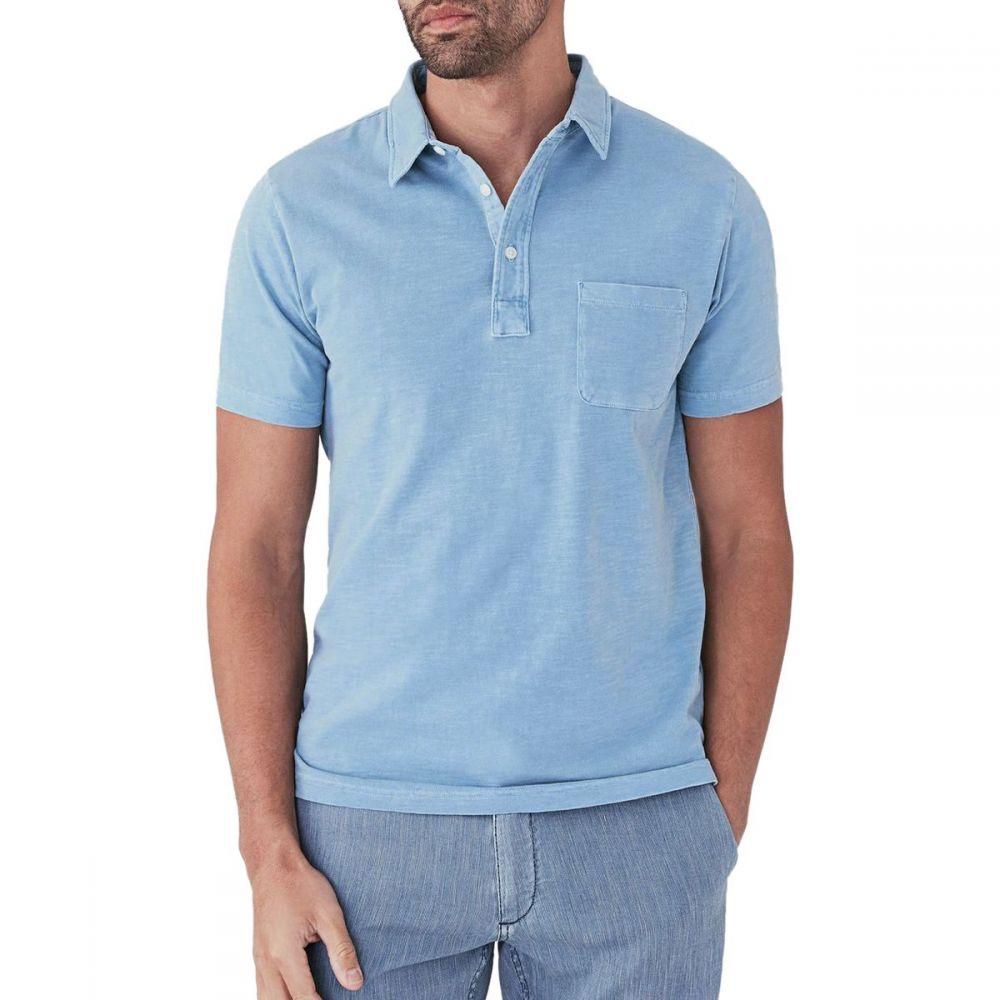 ファレティ Faherty メンズ トップス ポロシャツ【Sunwashed Polo Shirts】Azure