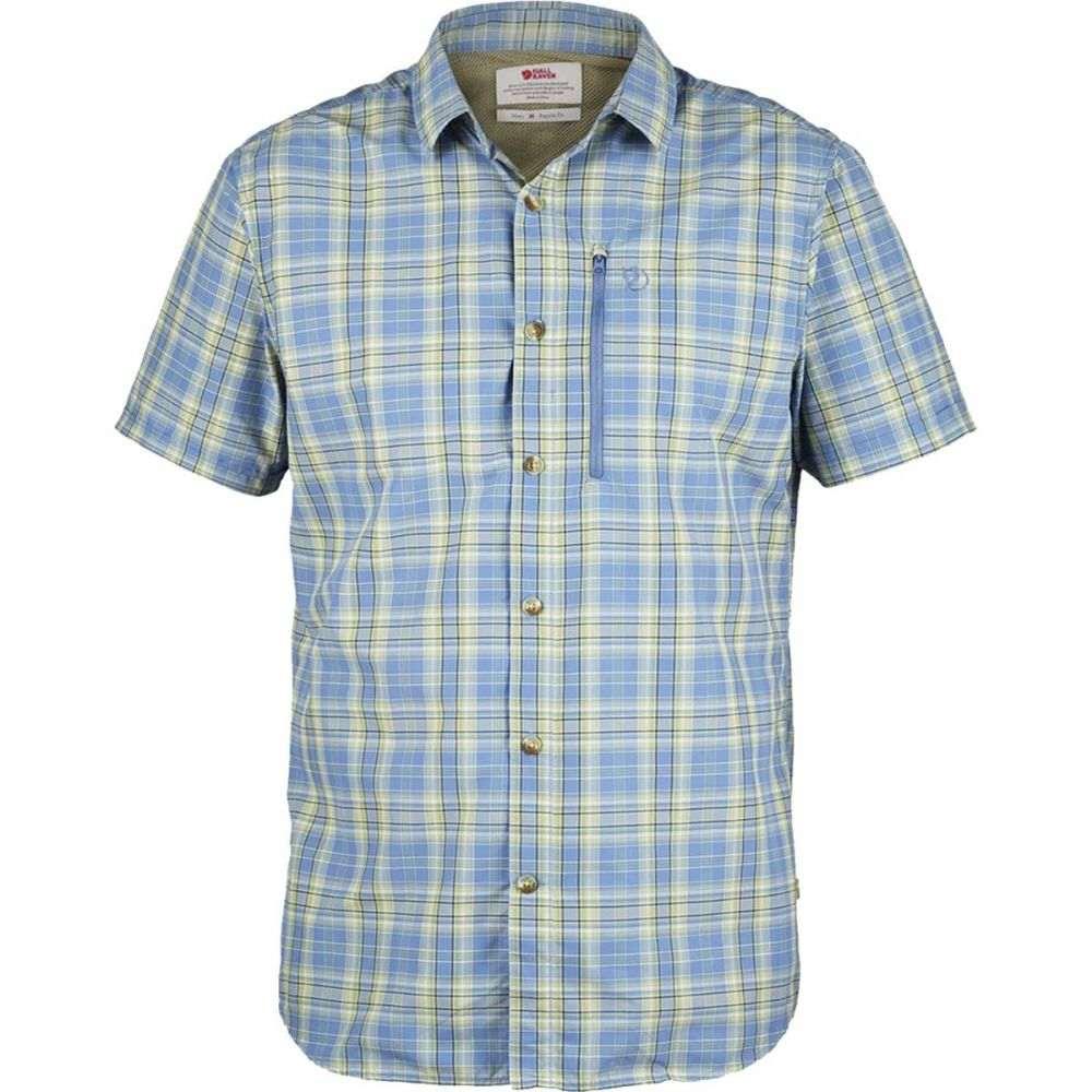 フェールラーベン Fjallraven メンズ トップス 半袖シャツ【Abisko Hike Shirts】Blue Ridge Plaid